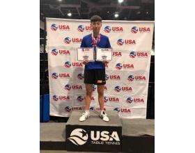 兵乓球小将孟子翔北京退役后受邀到美国俱乐