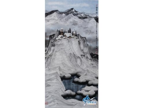 著名画家吴国言冰雪画作品欣赏一